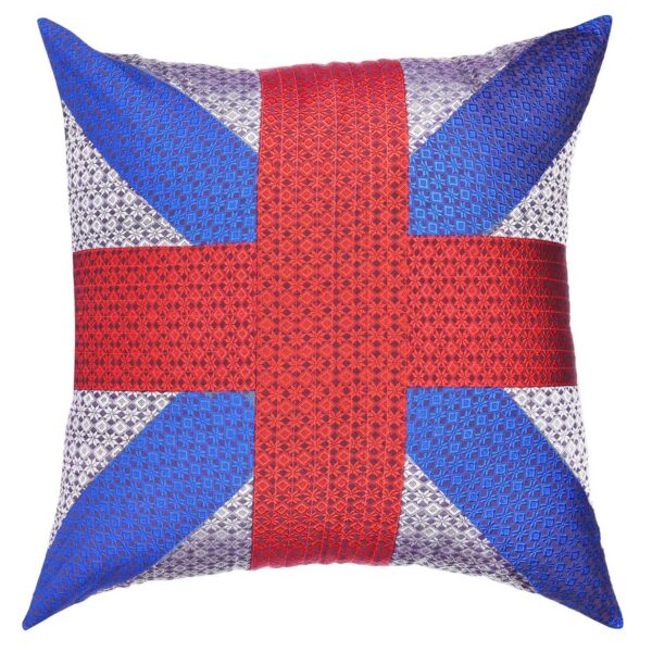 handwoven fabric cushion sold by Ethiqana a shop specialising in eco friendly products, earth friendly products and sustainable products.