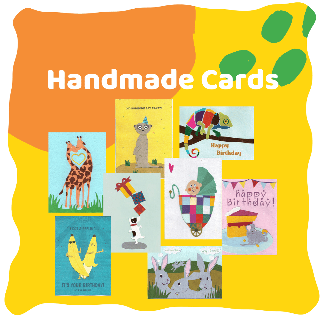 Handmade greeting cards by Ethiqana selling ethically sourced products
