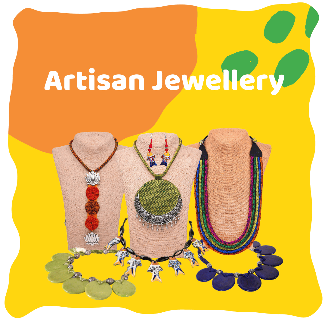 Handmade artisan jewellery by Ethiqana selling ethically sourced products
